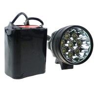 Wholesele 80W 8T6 Bicycle Cycling Headlamp Light 12000 Lumens 8xCREE XM L T6 LED Bike Flashlight