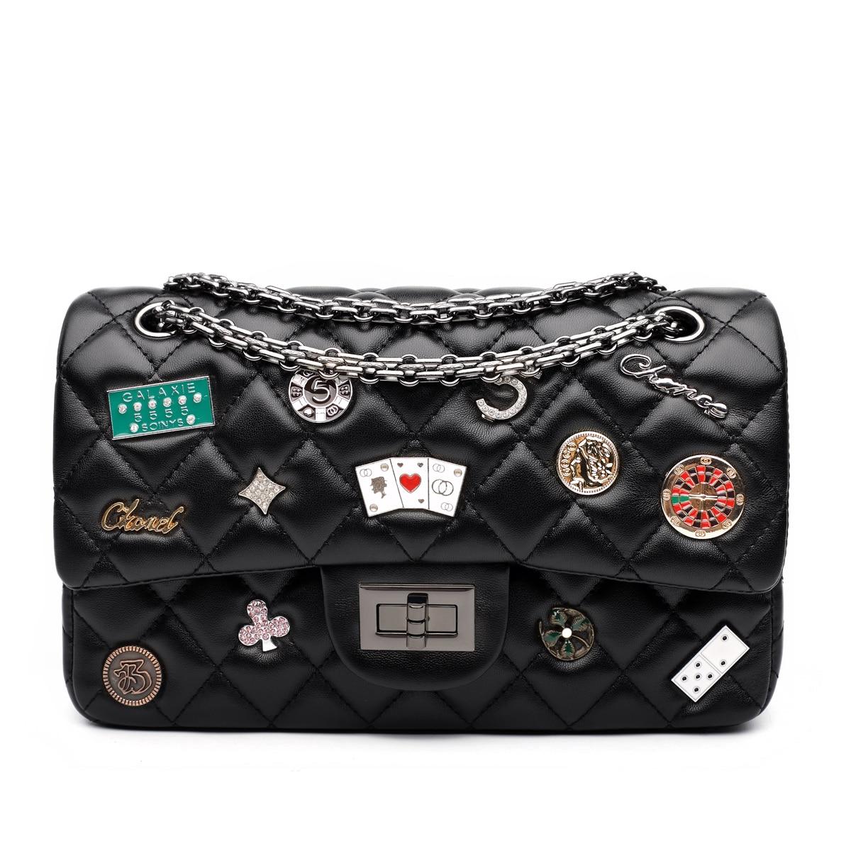 High Quality Small Ladies Messenger Bag Leather Shoulder Bags Women Crossbody Bag for Girl Brand Women Handbag Black White