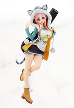 Huong Anime Figure 20 CM Super Sonic Doll Student Casual Wear PVC Action Figure Collectible Toy