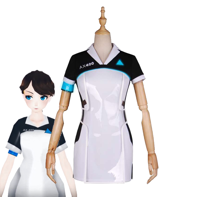 Detroit Become Human KARA Cosplay Costume AX400 Refugee Uniform New Arrival