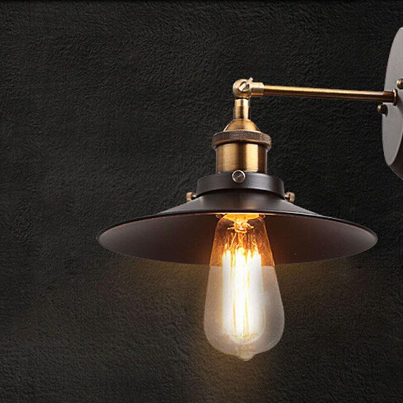 Campagne américaine Mur De Stockage Entrepôt Chambre Salon Lampe De Chevet Creative Rétro Louche De Fer Juste Couloir Escalier lampe
