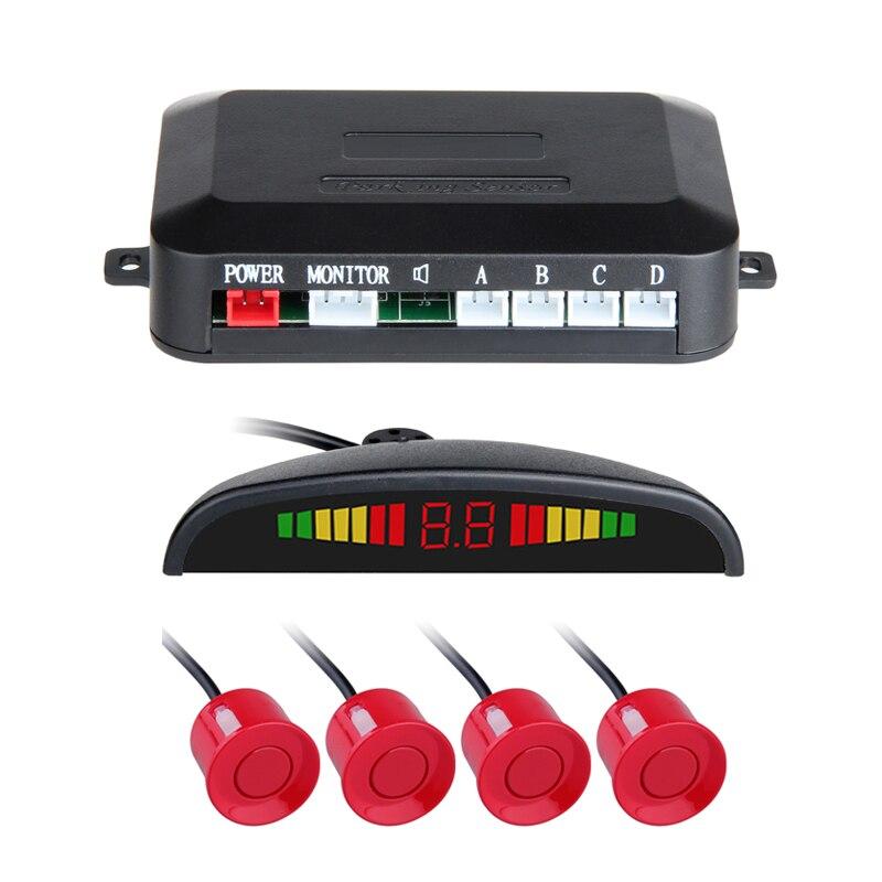 Cheap LED display 4sensors car parking system car detector Reversing Backup Radar parktronic sensors pz300