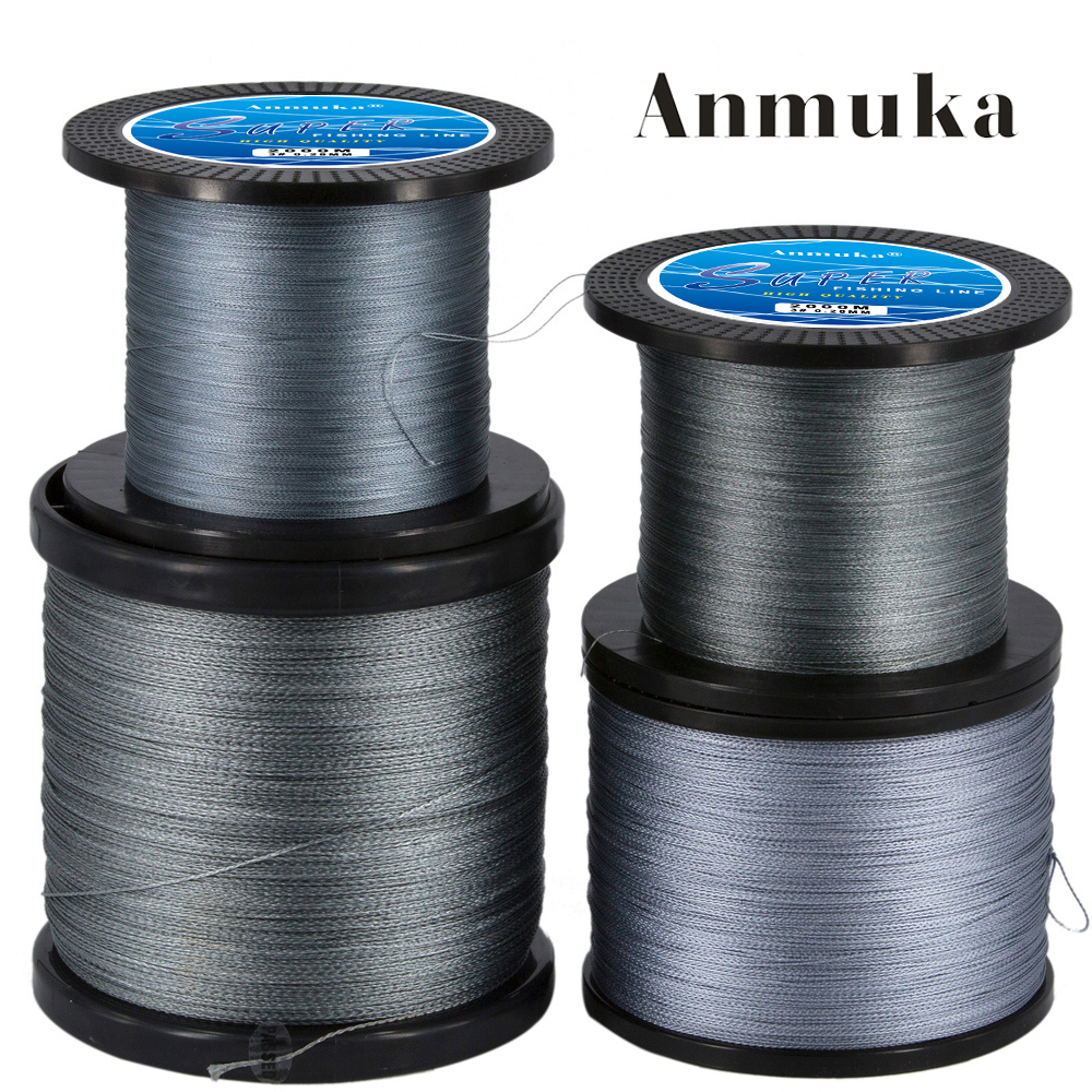 Anmuka 2000m Super 4 Strands Braid Line Green PE Multifilament Saltwater Fishing Super Strong Carp Braided Fishing Gear dagezi super strong 4 strand 300m 330yds 100% pe braided fishing line 10 80lb multifilament fishing line carp fishing saltwater