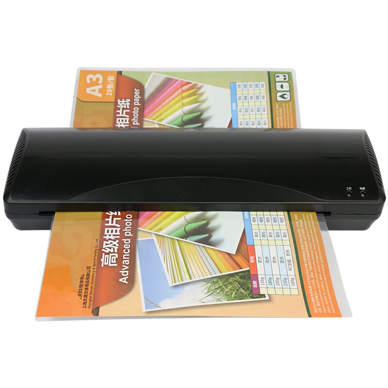 A3 Photo Paper Document Hot Cold A4 Laminator 2 Rollers Quick Warming Up Fast Laminating for