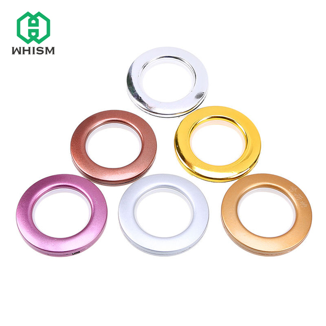 whism 8pcs plastic rings eyelets for curtains home decoration round