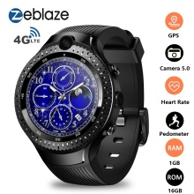 Zeblaze THOR 4 Dual 4G Smart Watch Phone 5.0MP Camera Android 1.4 AOMLED GPS/GLONASS 1GB 16GB Men 2019