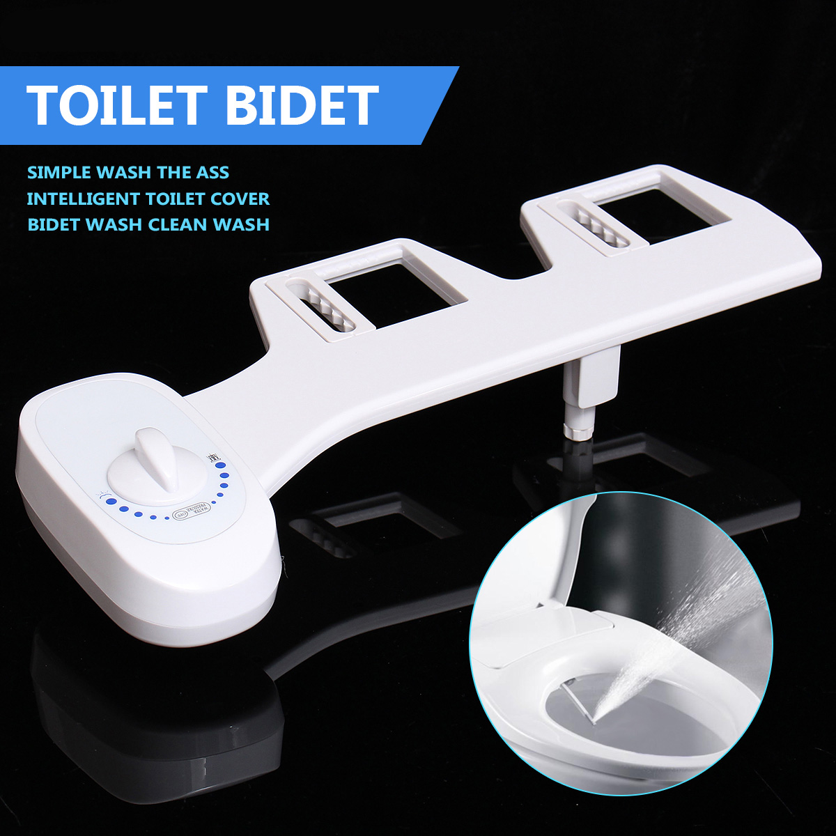 Xueqin 2 Sizes Single Nozzle Bathroom Toilet Seat Bidet Sprayer Ass Wash Clean Cold Water Non-Electric Toilet Sprayer Nozzle