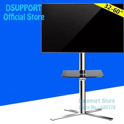 Fashional Étage TV Stand Mont Mobile TV Support Mobile TV Chariots Fit pour 40 ~ 60 TV, Max Soutien 35 KG Poids