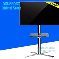 Fashional Floor TV Stand Mount Movable TV Bracket Mobile TV Carts Fit for 40~60 TV, Max Support 35KG Weight