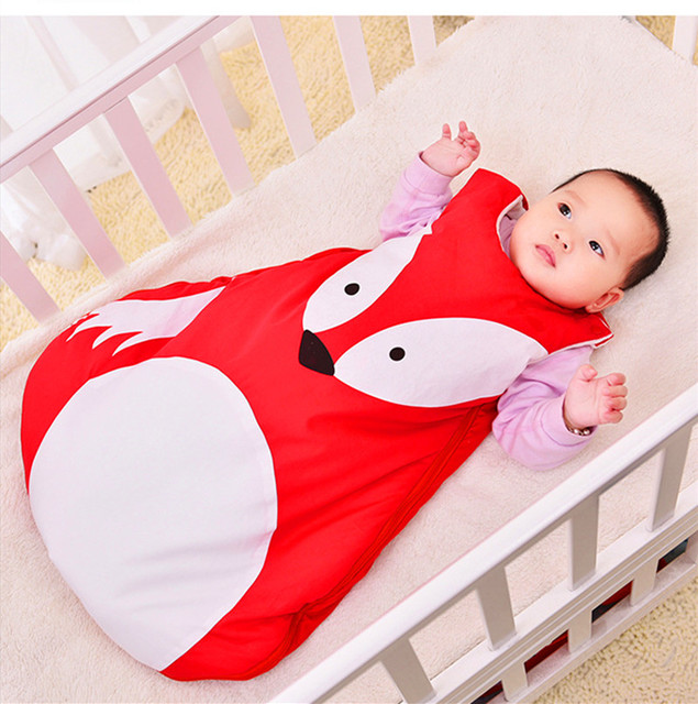2017 Baby cartoon sleeping bag with thickening and velvet baby qiu dong children against playing is the spring and autumn period