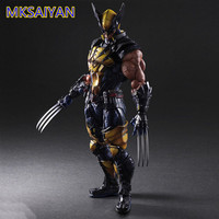 Marvel Wolverine X Men Play Arts Action Figure Toys Wolverine James Howlett Anime PVC Boys Toy Collectible Model Doll Gift XM