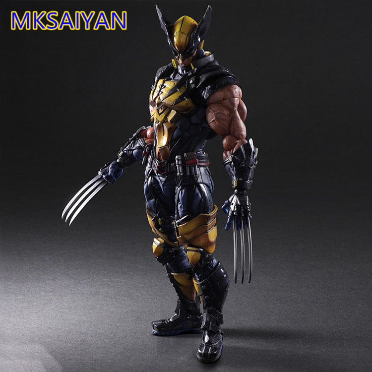 Wolverine X-Men Play Arts Action Figure Toys Wolverine James Howlett Anime  Figurine PVC Toys Collectible Model Doll Xmas Gift