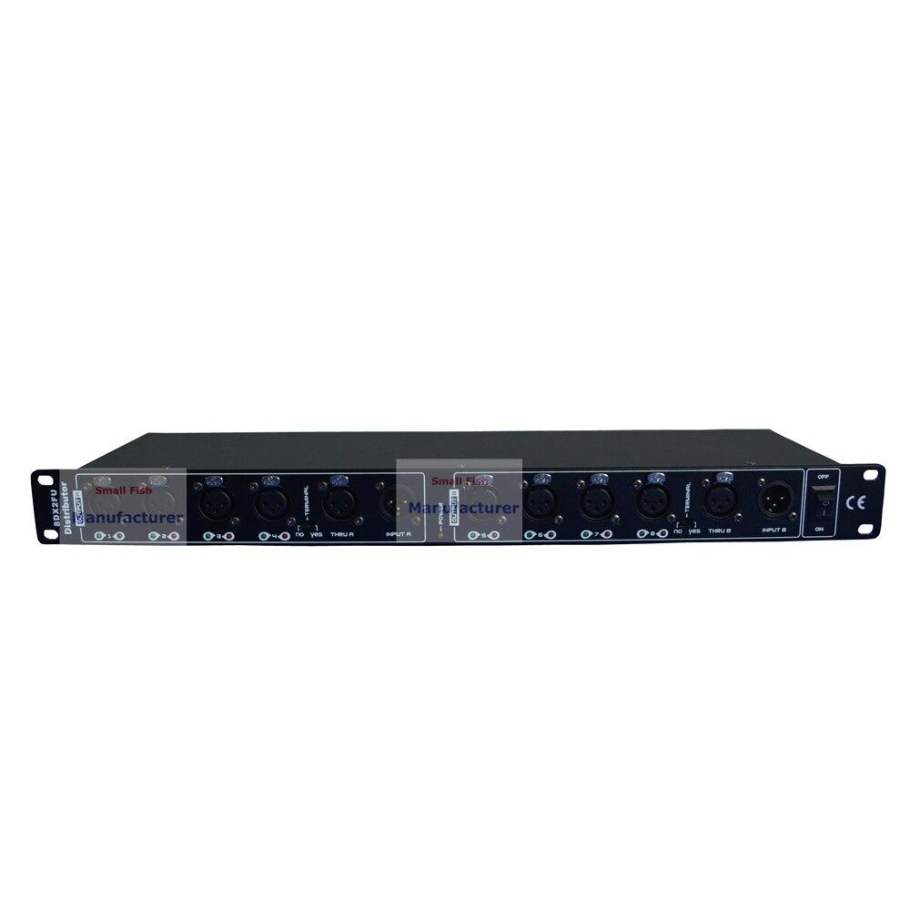 2 pz/lotto DHL/FedEx Libero DMX512 Splitter Luce Amplificatore di Segnale Splitter Otto Vie Distributore DMX Per Luce in movimento Della Testa - 2