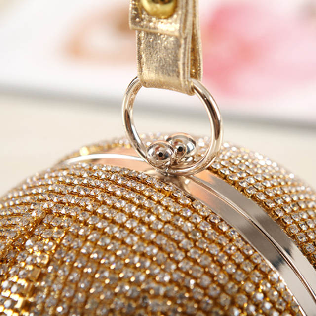 placeholder Gold clutch luxury evening clutch full diamond evening bags  tassel chain party bag bling bling women 70ee80f12071