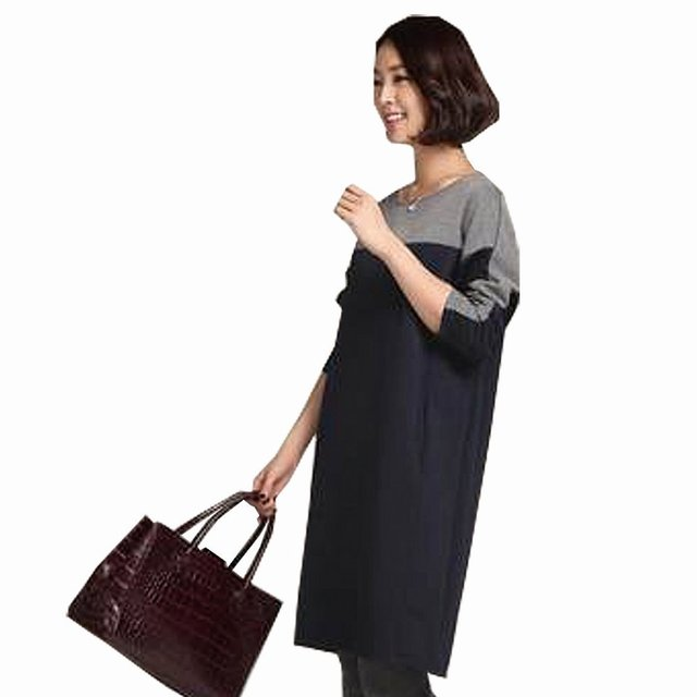 Fashion Autumn New Elegant Slim Maternity Dresses Plus Size Patchwork Maternity Dress Pregnant Clothes Maternity-dress M-3XL