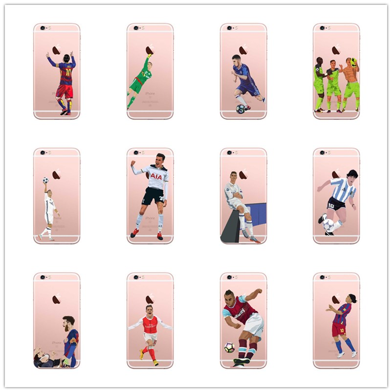 Stefano ronaldo is the cover of soccer star Lionel messi, for the iphone8 7 6 6s plus X. Soft silica gel TPU