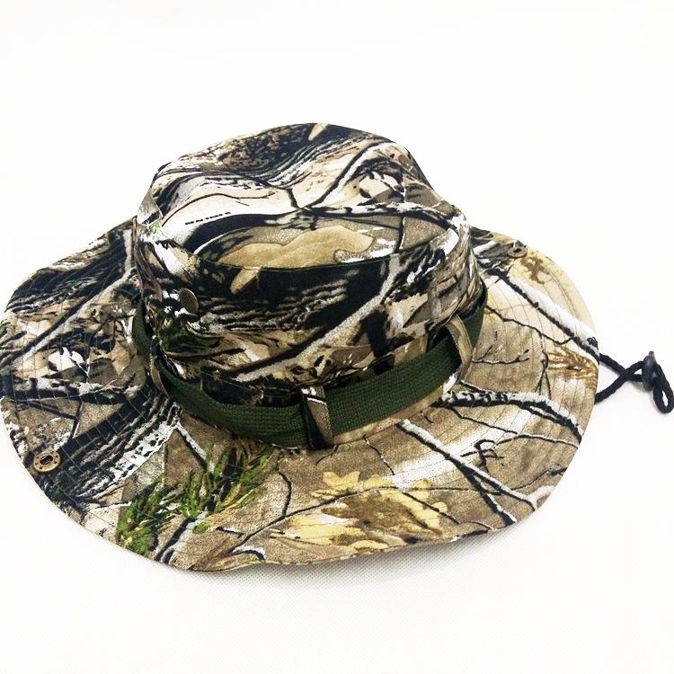 156c47a5e6d Mens Camo Bonnie Hat Rainproof Army Sun Visor Caps Cowboy Western ...