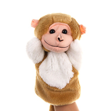 1 Pcs Monkey Doll Classic Cute Cartton Animal Hand Puppet Toys Plush Puppets  Baby Toy Animals Marionetes Fantoche