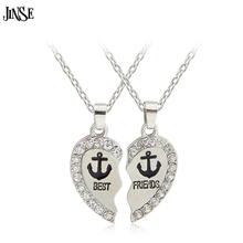 BLS172 PANDA BFF Necklace Friendship Penguin Panda Dolphin Anchor Rudder Best Friends Heart Wholesale
