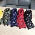 Invierno Espesar Abajo Bufanda Traje De Chaqueta Abajo 2017 Perfecto al aire libre Súper Cálida Bufanda de Lujo de Las Mujeres de Los Hombres del Anillo del Collar Caliente bufandas