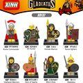Sola venta héroes de esparta diy bloques de elf hunter gladiatus roma x0137 medieval knights building blocks juguetes para los niños