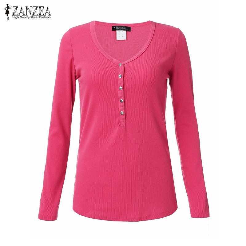 США Плюс Размер 4-18 Blusas 2016 мода весна осень женские повседневные однотонные рубашки сексуальные глубокий v-образный вырез длинный рукав пуговицы Топы