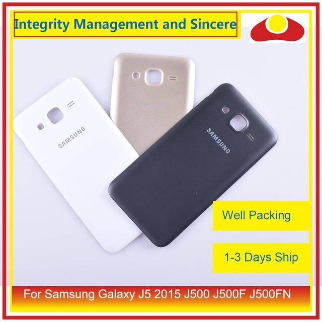 50 Stks/partij Voor Samsung Galaxy J5 2015 J500 J500F J500FN J500H Behuizing Batterij Deur Achter Back Cover Case Chassis Shell vervanging