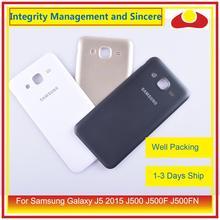 50 unids/lote para Samsung Galaxy J5 2015 j500 J500F J500FN J500H vivienda puerta de la batería tapa trasera caso chasis Shell Replacement