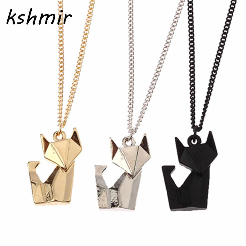 f5d30949707 womens clothing accessories necklaces pendants fashion accessories Stereo  feeling Little fox necklace short necklace Women 2018