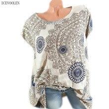 Fashion casual large size short-sleeved shirt summer ladies