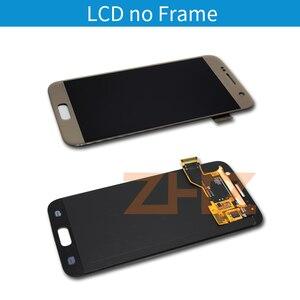Image 2 - Super amoled do Samsung GALAXY S7 LCD G930 ekran dotykowy przetwornik analogowo cyfrowy do Samsunga S7 LCD G930F naprawa części zamienne narzędzia
