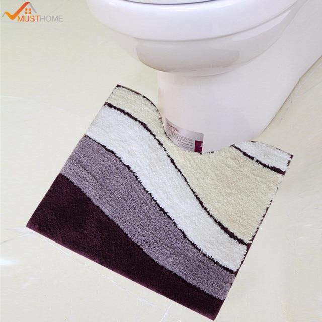 45 cm x 50 cm Microfiber badkamer wc mat Hoogwaardige latex wc ...