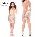 2017  Summer Dress Women Strap Gold Sequin Dress  Summer Sexy dress Sequined Geometic Women Bodycon Club Dress