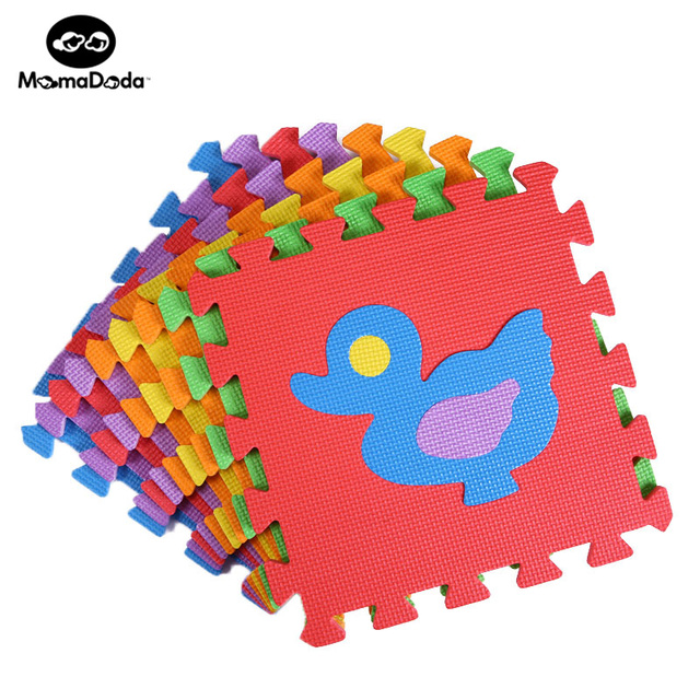 9pcs Cartoon Animals EVA Foam Puzzle Mat For Children Waterproof Soft Educational Gym Playmat Kids Rug Puzzle Carpet Tapete Bebe