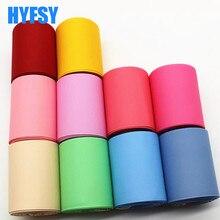 Hyfsy 10076 3 '75mm чистый ibbon 10 ярдов DIY ручной работы, материалы для упаковки подарков повязка на голову из тесьмы Двусторонняя плотная цветные