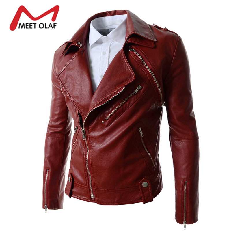 2017 Men Leather Jackets Winter Autumn Male motorcycle Biker Jackets Faux Leather Coats Vests jaqueta de couro masculino YL749