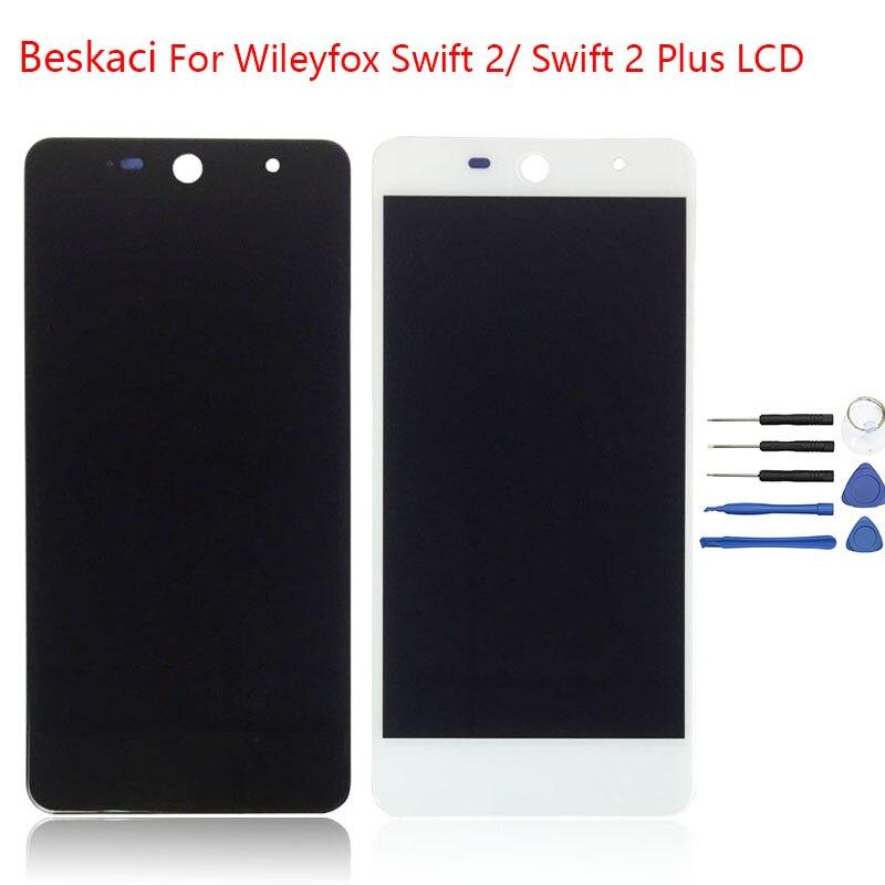 Beskaci Pour Wileyfox Swift 2 LCD Écran Affichage Aucun Pixel Mort Écran Tactile Digitizer Assemblée Pour Wileyfox Swift 2 Plus LCD Pièces