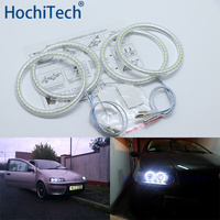 Ultra bright SMD white LED angel eyes halo ring kit daytime running light DRL for Fiat PUNTO mk2 1999 2010