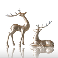 Resin Reindeer Home Decor Figurine Pair Lover Gift Lucky Design Art Crafts Study Creative Animal Decor