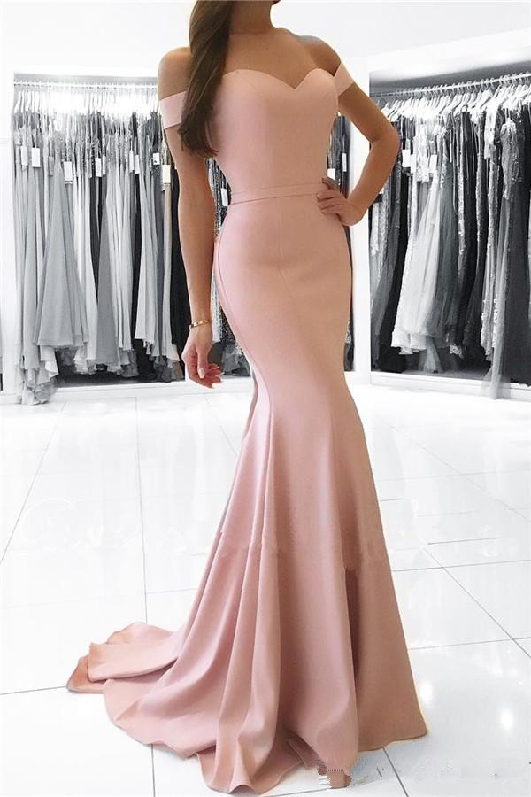 Elegant 2019   Prom     Dresses   Mermaid Off The Shoulder Party Maxys Long   Prom   Gown Evening   Dresses   Robe De Soiree