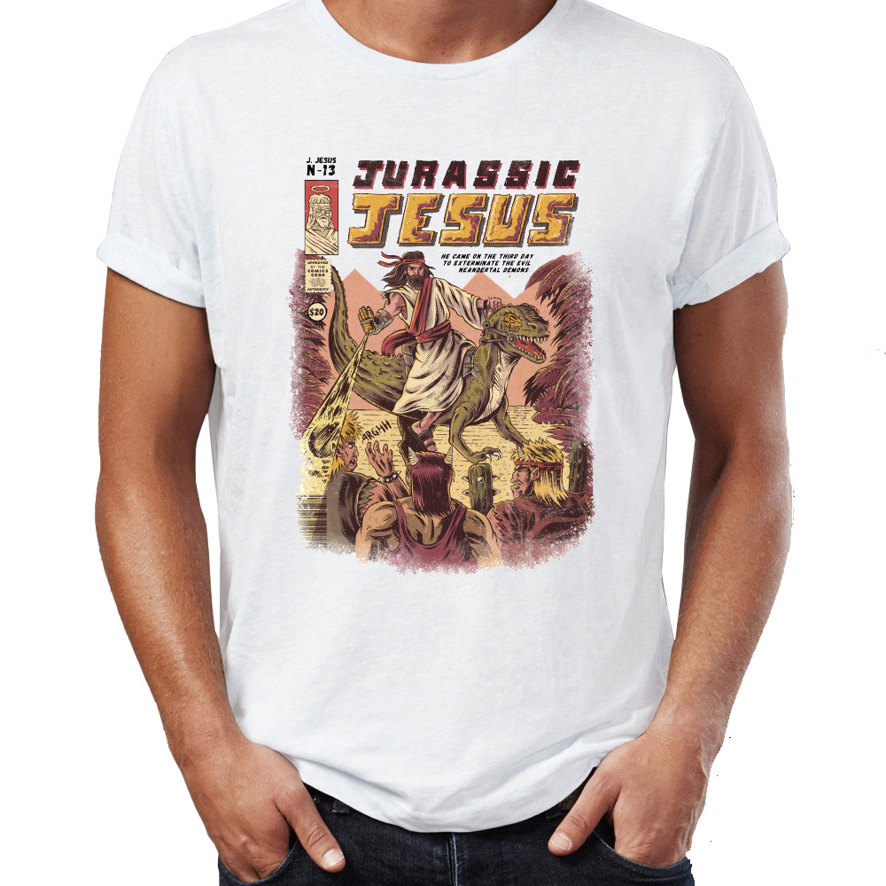 0a9bc389 Men's T Shirt Jurassic Jesus Dinosaur T Rex Awesome Tee-in T-Shirts from  Men's Clothing & Accessories on Aliexpress.com | Alibaba Group