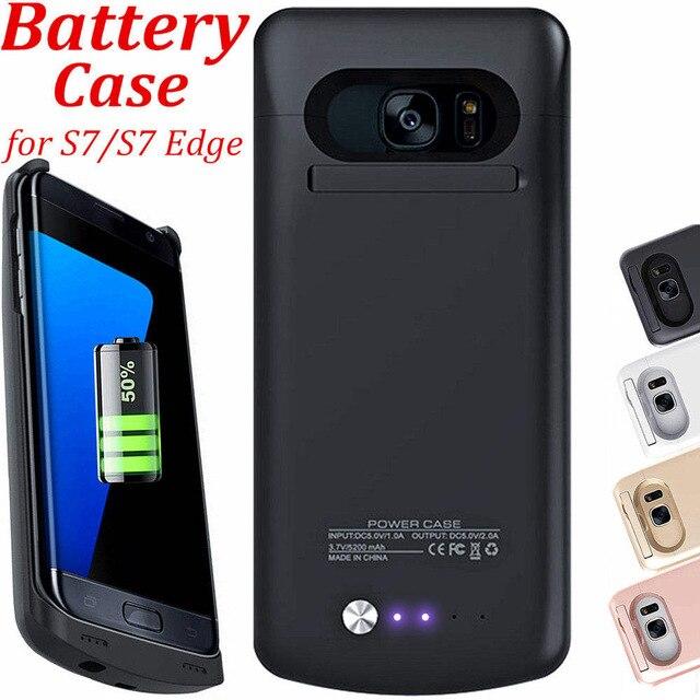 bilder für S7 Rand Ladegerät Batterie Fall Für Samsung Galaxy S7 Fall zurück Drahtlose Externe Aushilfsbewegliche Schwarz Roségold Rosa weiß