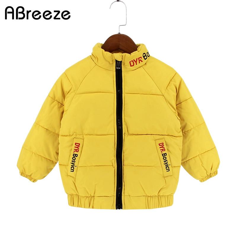 ad915dd3cf2b Abreeze Παιδιά χειμώνα φθινοπώρου κάτω & πάρκα Νέα κίτρινα / γκρι ...