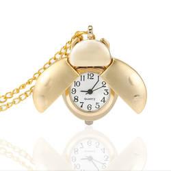 80 s Античное золото милый жук кварцевые карманные часы механический подвеска Цепочки и ожерелья цепи клип часы H9