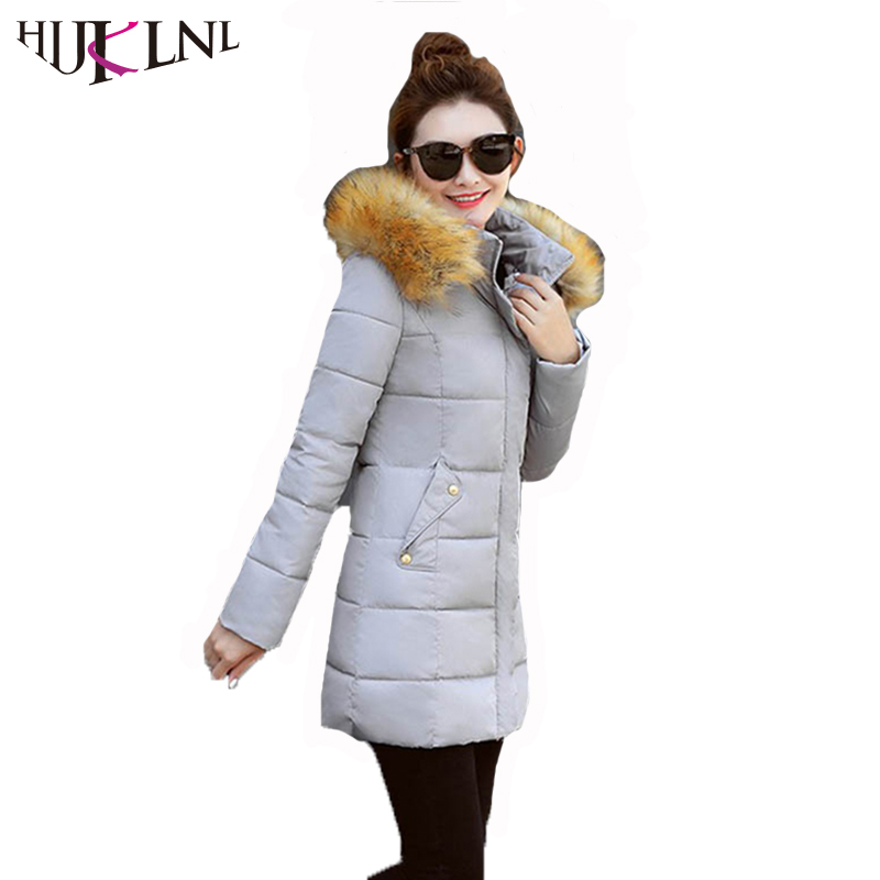 hijklnl manteau hiver femme ladies coat womens winter long thick jacket 2017 new hooded fur