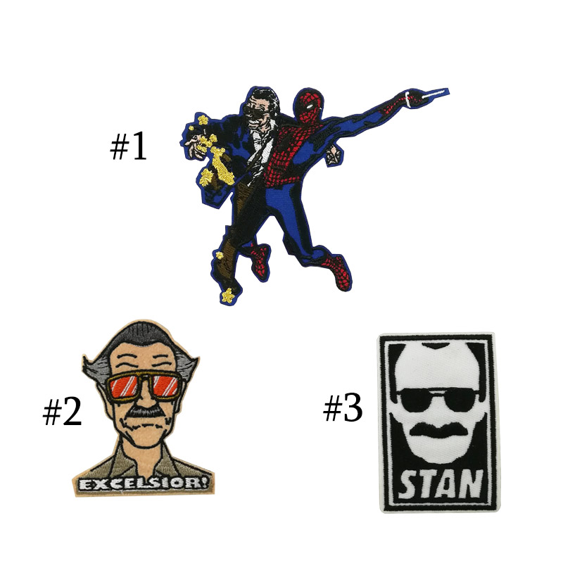 ff9c96fbbc Stan Lee RIP Excelsior SUPERHERO Patch Tattoo Stikcer no cameo marvel comic  quotes Embroidered Iron on patches for clothing -in Patches from Home    Garden ...