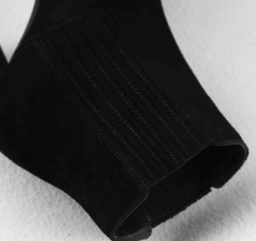 forme Femmes Grande Cheville Qutaa Élastique Suède Hauts D'hiver À 34 Plate Taille 2019 Talons Bande Carré Mode Noir De brown Bottes 40 Vache wTXzqYT