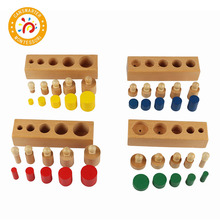 Baby Toy Montessori Material Cylinder Blocks Mini Simple Home Learning School Children Teaching Aids