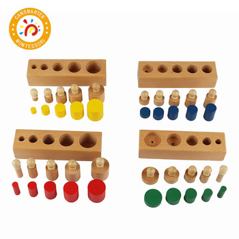 Baby Toy Montessori Material Cylinder Blocks Mini Simple Home Learning Home School Toy Children Teaching Aids baby toy montessori material sensory teaching aids foot balance hand balance early education home children toy