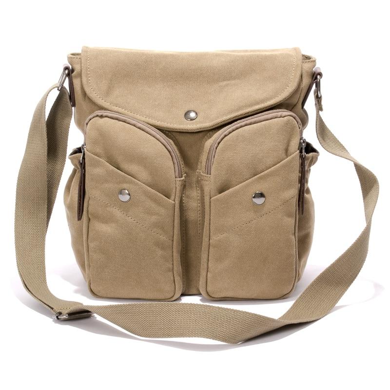 Multifunction Canvas Bag Travel Bolsa Men's Crossbody Bag Messenger Bags Shoulder Bag